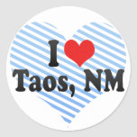 Amo Taos, nanómetro Pegatinas Redondas