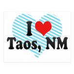 Amo Taos, nanómetro Tarjetas Postales