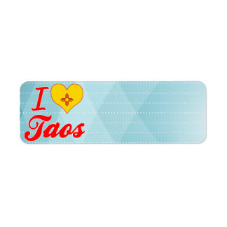 Amo Taos, New México Etiquetas De Remite