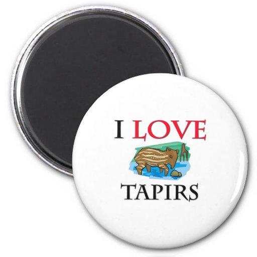 Amo Tapirs Imán Redondo 5 Cm