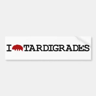 Amo Tardigrades Etiqueta De Parachoque