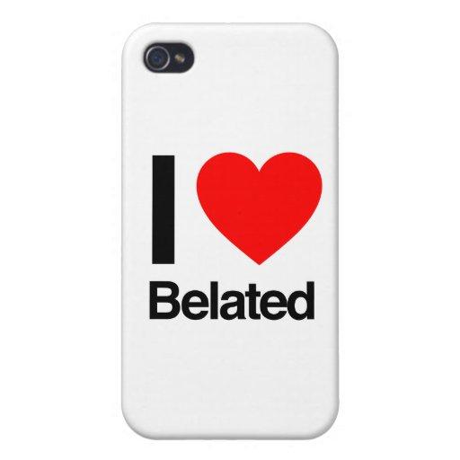 amo tardío iPhone 4/4S carcasas