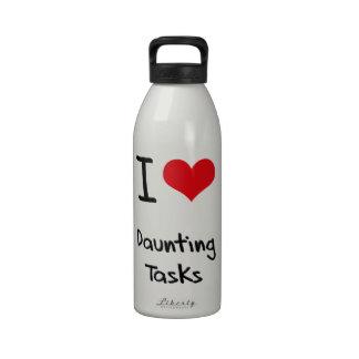 Amo tareas de enormes proporciones botella de agua