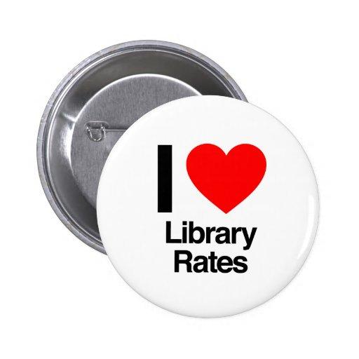 amo tarifas de biblioteca pin redondo de 2 pulgadas