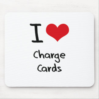 Amo tarjetas bancarias tapetes de ratón