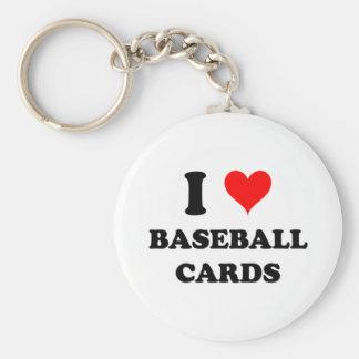 Amo tarjetas de béisbol llaveros personalizados