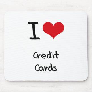 Amo tarjetas de crédito alfombrilla de ratón