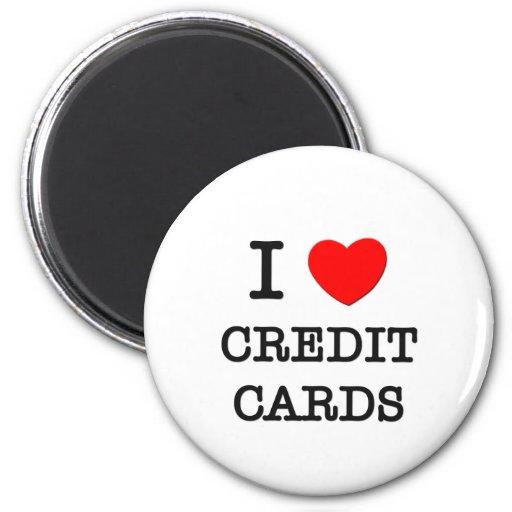 Amo tarjetas de crédito imán de nevera