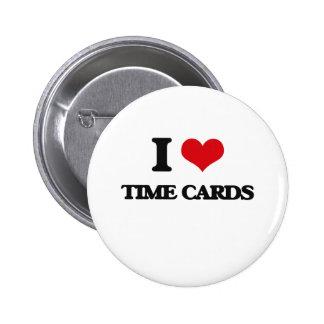 Amo tarjetas de fichar chapa redonda 5 cm
