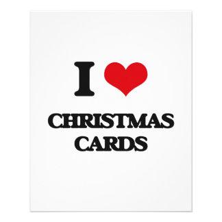 Amo tarjetas de Navidad Tarjeton