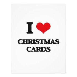 Amo tarjetas de Navidad Flyer Personalizado