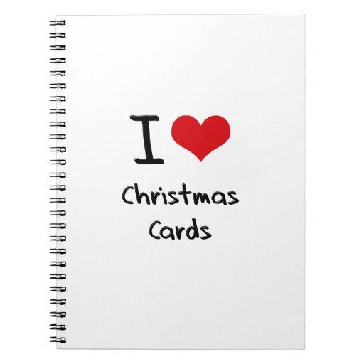 Amo tarjetas de Navidad Libretas