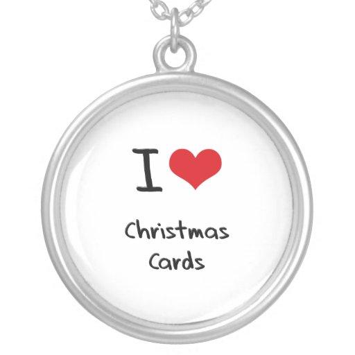 Amo tarjetas de Navidad Pendientes