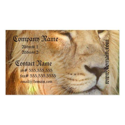 Amo tarjetas de visita de los leones