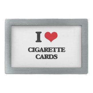 Amo tarjetas del cigarrillo hebilla de cinturón rectangular