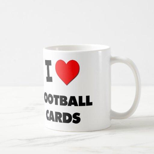 Amo tarjetas del fútbol taza básica blanca