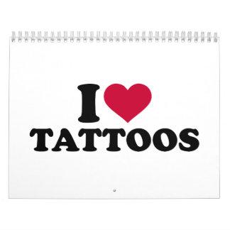 Amo tatuajes calendario