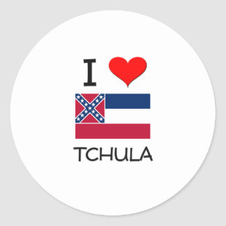 Amo Tchula Mississippi Pegatina Redonda