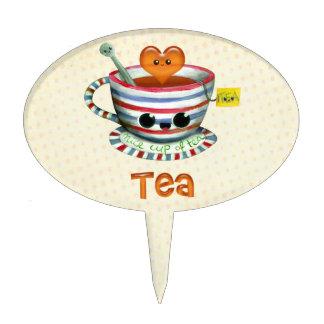 Amo té decoración de tarta