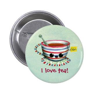Amo té pin redondo de 2 pulgadas