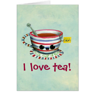 Amo té tarjeta de felicitación