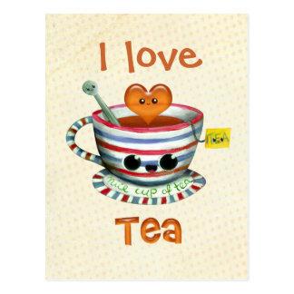 Amo té tarjetas postales