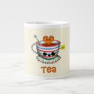 Amo té taza de café grande