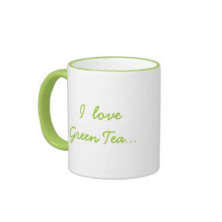 ¡Amo té verde pero necesito el chocolate! - Humor Taza De Dos Colores