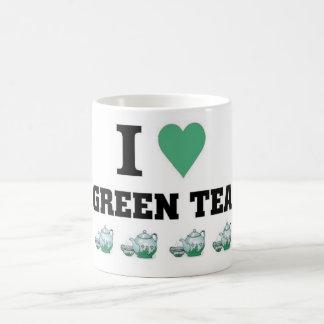 Amo té verde tazas