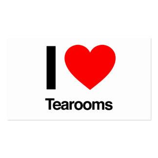 amo tearooms tarjetas de visita