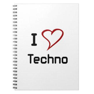 Amo Techno Libros De Apuntes Con Espiral