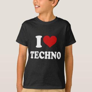 Amo Techno Playera