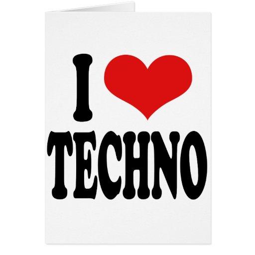 Amo Techno Tarjeta De Felicitación