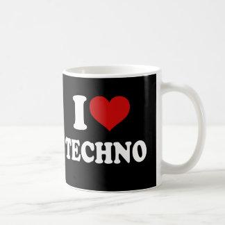 Amo Techno Taza Básica Blanca
