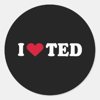 AMO TED PEGATINA REDONDA