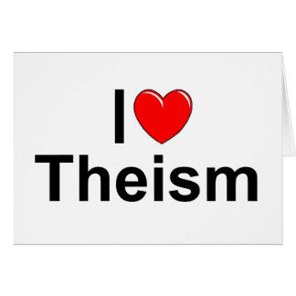 Amo teísmo (del corazón) tarjeta de felicitación