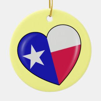 Amo Tejas - corazón del Texan patriótico Ornato