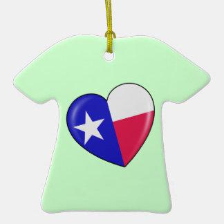 Amo Tejas - corazón del Texan patriótico Adorno Para Reyes
