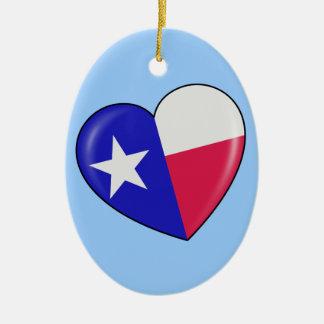Amo Tejas - corazón del Texan patriótico Adorno De Reyes