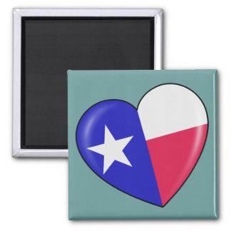 Amo Tejas - corazón del Texan patriótico Imanes