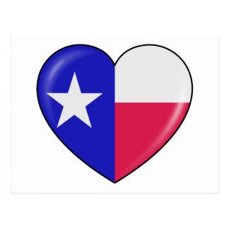 Amo Tejas - corazón del Texan patriótico Postales