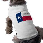 Amo Tejas (la camiseta del perro) Camisa De Mascota