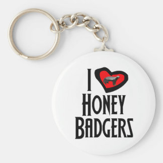 Amo tejones de miel llavero redondo tipo pin