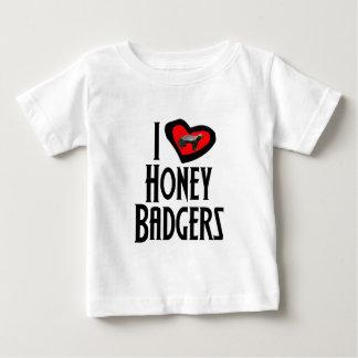 Amo tejones de miel playera para bebé