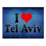 Amo Tel Aviv, Israel Tarjetas Postales