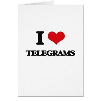 Amo telegramas tarjeta de felicitación