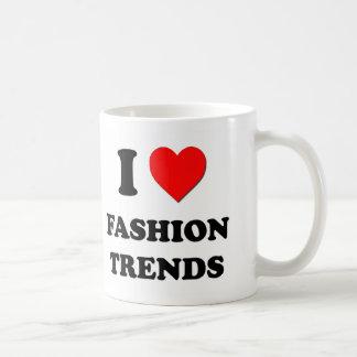 Amo tendencias de la moda taza de café