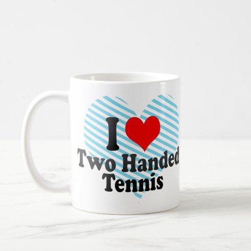Amo tenis ambidextro taza de café