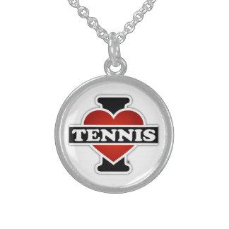 Amo tenis collar de plata esterlina