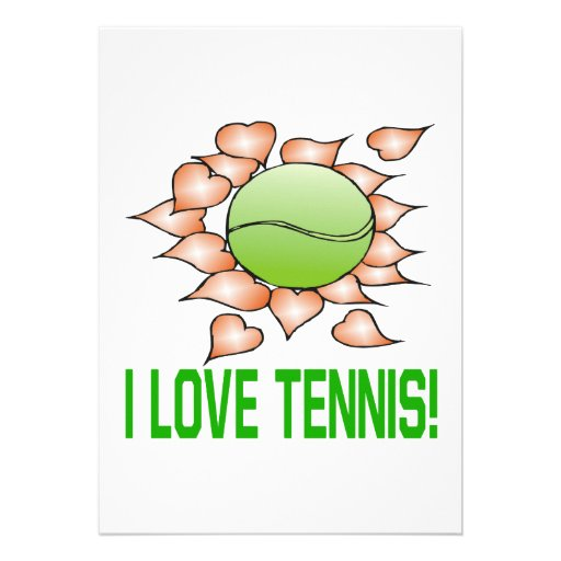 Amo tenis comunicado personalizado